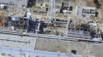 Unit 4, left, and Unit 3 of the crippled Fukushima Dai-ichi.jpg